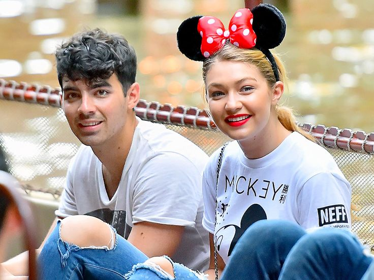 Gigi Hadid accepts a proposal from Mickey Mouse – while at Disneyland with Joe Jonas!