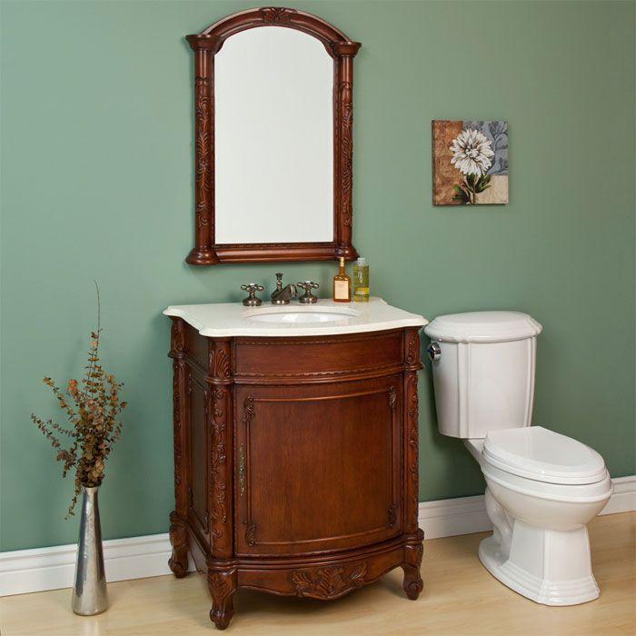 32 Diedrich Vanity Cabinet With Mirror