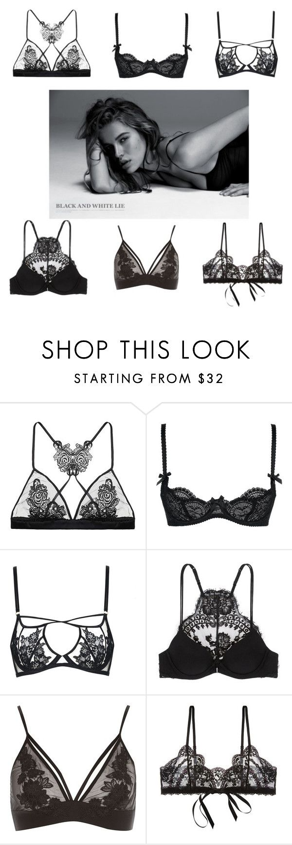 """Lingerie"" by gpalaz ❤ liked on Polyvore featuring Fleur of England, L'Agent By Agent Provocateur, Agent Provocateur, La Perla and Hanky Panky"