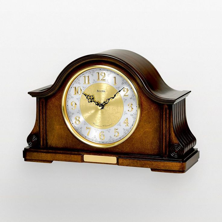 Bulova Chadbourne Wood Chiming Mantel Clock - B1975, Multicolor