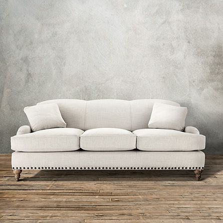 "Outerbanks 86"" Upholstered Sofa in Hamptons Oyster 