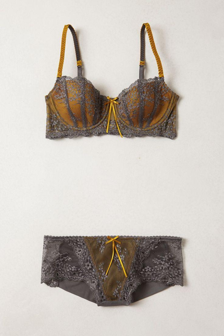 Ribboned Saffron Hipster #lace #lingerie