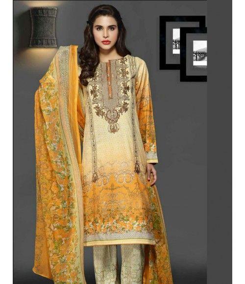 Rangrasiya Embroidered Lawn Collection 2016 D-11009B