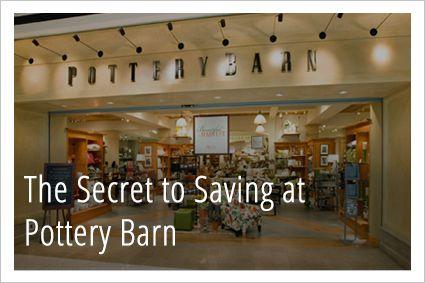 Pottery barn outlet coupon birch run