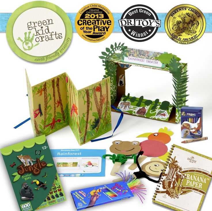 Rainforest Craft Ideas For Kids Part - 26: Take Your Kids On A Journey To Study The Wild And Adventurous Rainforest  With This Jam-packed Box, Which Includes Tons Of Different Creativity And  STEM ...
