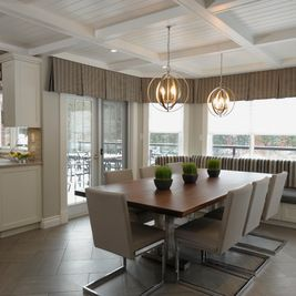 Traditional Dining Room By Nancy Lem Design Valance IdeasCurtain