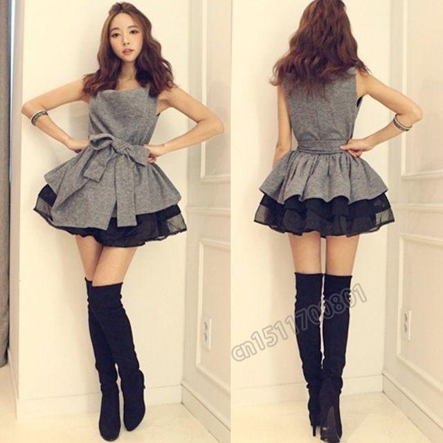 新しいミニ春の女性の衣類ドレス韓国風タンクトップ女性のためのセクシーな夜会服sv002575minidress