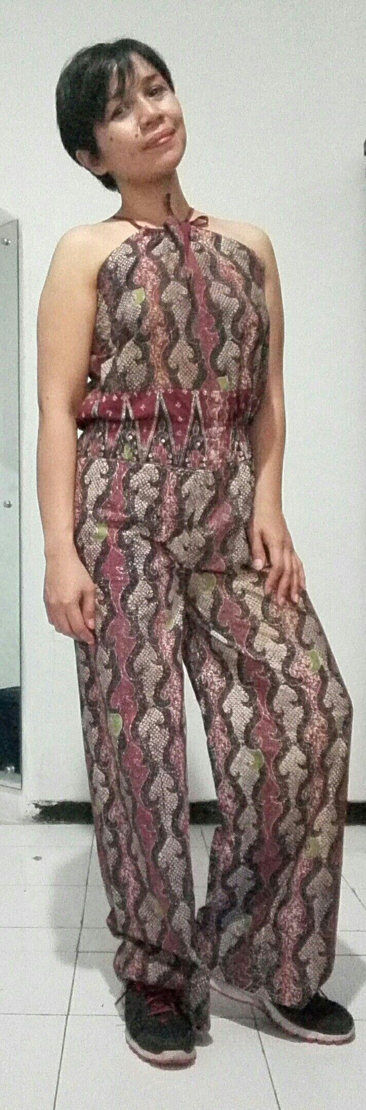 Batik overall self-made