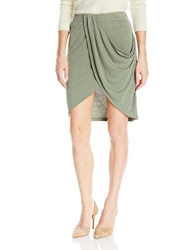 Splendid Women's Draped Skirt, Moss, L Splendid http://amzn.to/2yukzve