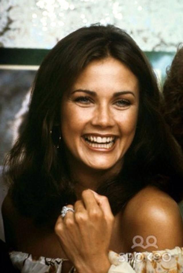 """Lynda Carter, also known as """"Wonder Woman"""", my first husband had such a crush on her! There was nothing I could do...."""