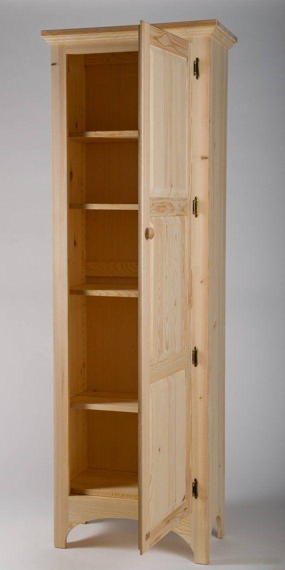 Pine Pantry Cabinet Muebles Para Despensa Armario De Despensa Madera Rustica Muebles