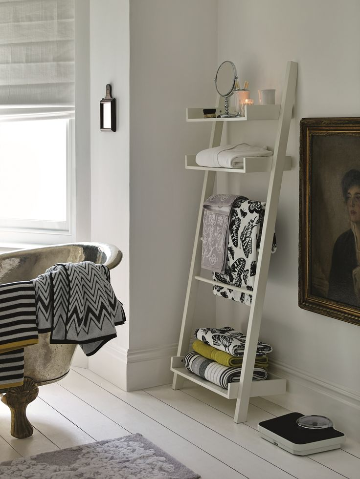 Turn your bathing space into a tranquil retreat with our range of accessories, fittings and storage ideas like this bathroom ladder.