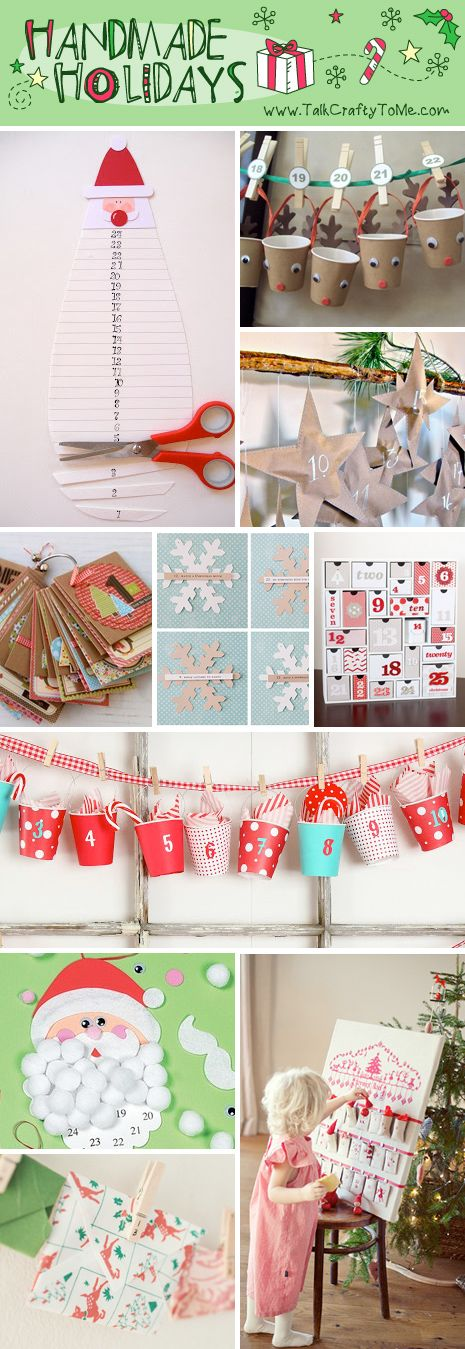 Handmade Advent Calendar Roundup 2012