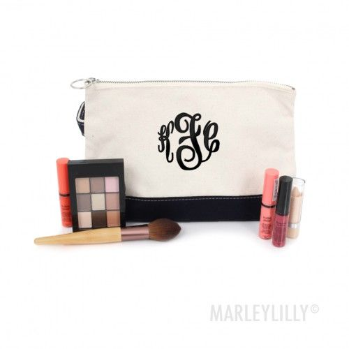 Personalized Makeup Bags | Marleylilly
