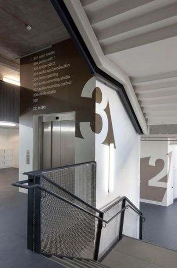 the johnson banks thought for the week. Wayfinding that fits in or highlights architecture. Wrapping corners.