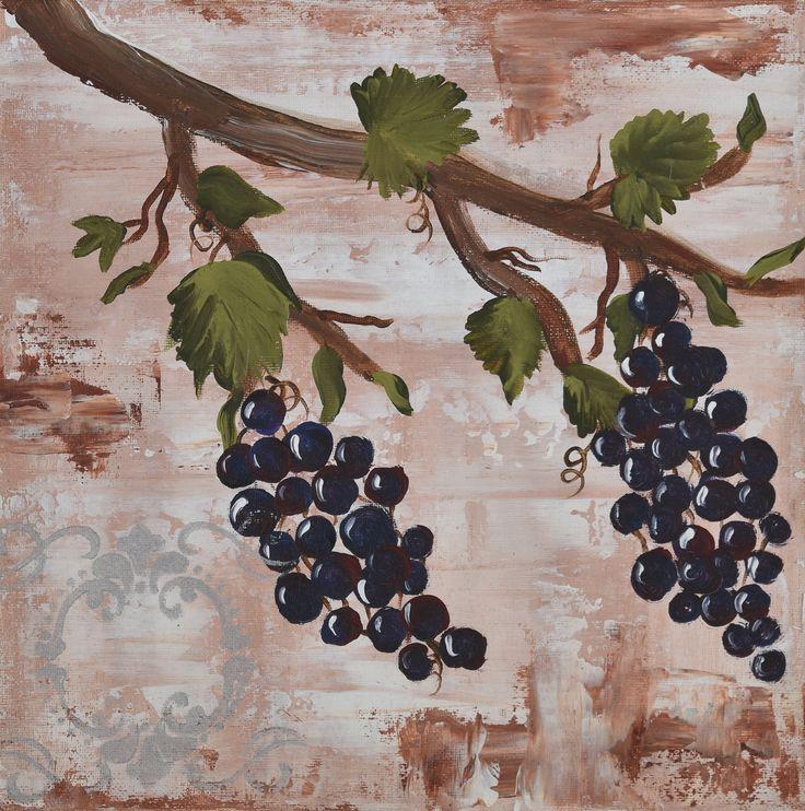 """Grape Delight "" by Deborah Christensen. Paintings for Sale. Bluethumb - Online Art Gallery"