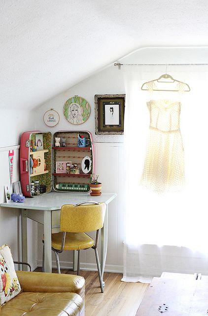 Welcome to Our Home: Bedroom/Studio by Skunkboy Creatures., via Flickr