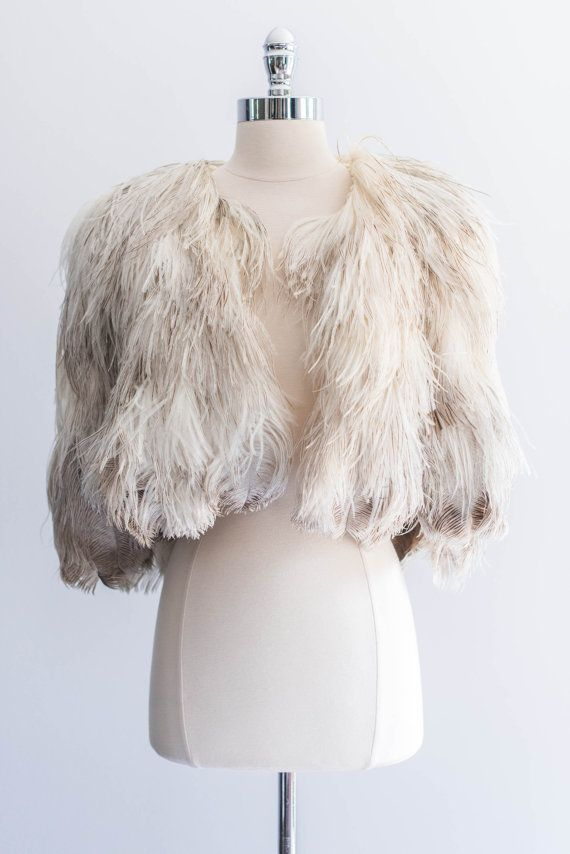 1930s Ostrich Feather Cape by ShopGossamer on Etsy, $628.00