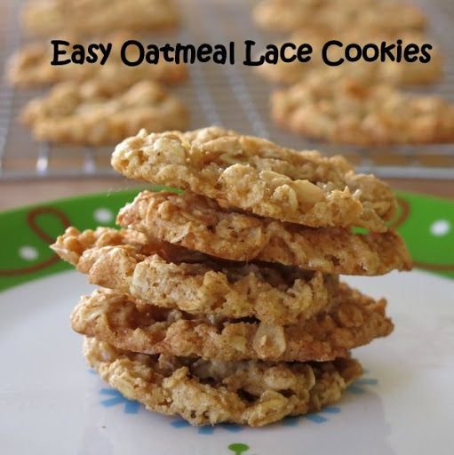 Easy Oatmeal Lace Cookies Recipe on Yummly. @yummly #recipe