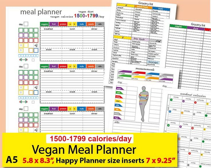 Excited to share the latest addition to my #etsy shop: A5 size planner, Happy Planner size inserts, 1500 Calories Tracker, Daily Vegan Meal Plan and more Easy to Use 21 day fitness planner- PDF http://etsy.me/2iU31W2 #papergoods #calendar #rainbow #backtoschool #black #21dayfix