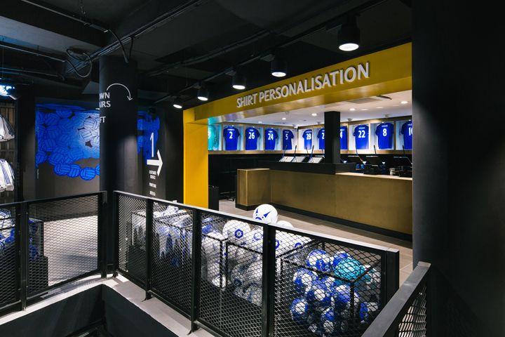 Retail Design Blog — Chelsea FC Megastore by Schwitzke & Partner at...