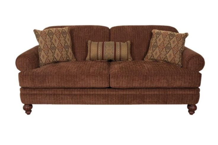 The England Furniture Kathy collection, featuring a sofa, loveseat, chair, and ottoman, is a great traditional yet casual group that works well in any home.