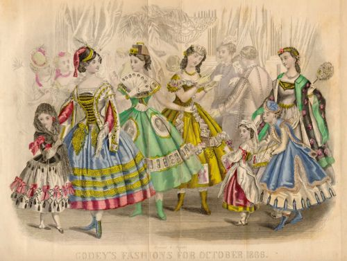 The 'photography' costume from this October 1866 Godey's plate may be my favorite 19th century fancy dress costume.