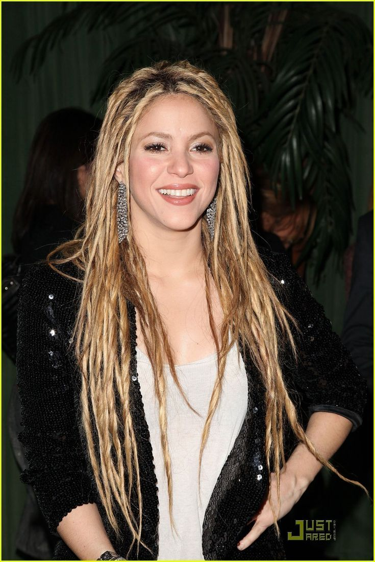 """Shakira shows off her dreadlocks as she attends the Rolling Stone cover and release party for her new album """"She Wolf"""" at The Bowery Hotel waaw they really look great on her amazing"""
