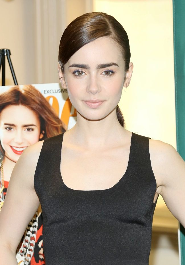 Lily Collins Wears Celine at Barnes & Noble Event in New York