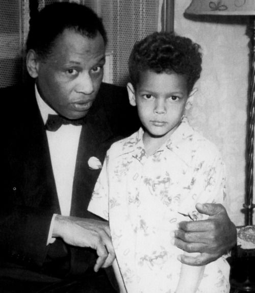 Paul Robeson and a very young Julian Bond.