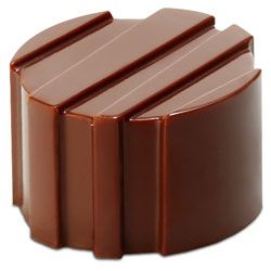 Polycarbonate Chocolate Mold Striated Cylinder 26mm Diameter x 16mm High, 21 Cavities
