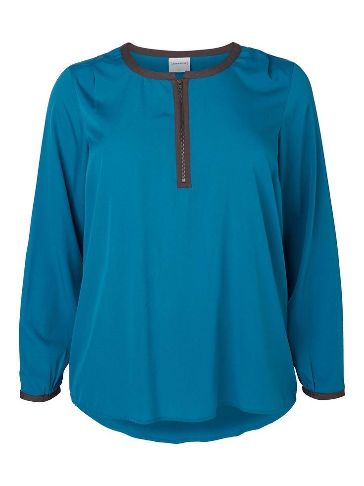 Dark blue plus size shirt from JUNAROSE #junarose #plussize #shirt #blue #colour