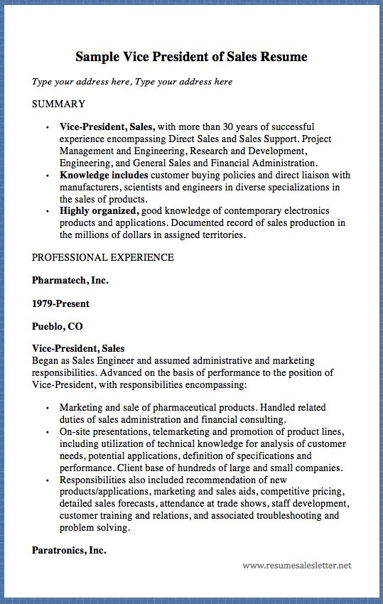 sales support resume example of objective in resume for sales