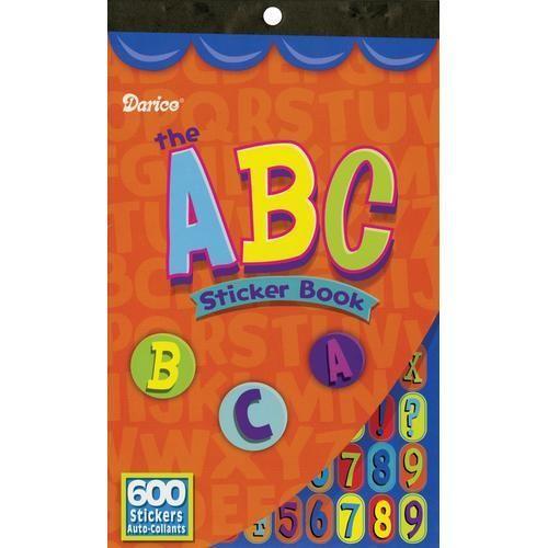 ABC Sticker Book 600 Alphabet Stickers for Kids