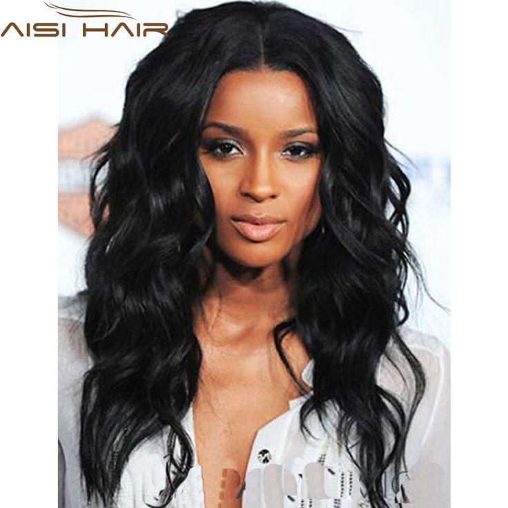 """20 """"Afro Longs Bouclés Noir Perruque Perruque Afro-Américain Pour Noir femmes Synthétique Naturel Noir Ciara Perruque Pas Cher Faux Cheveux Lolita perruque"""