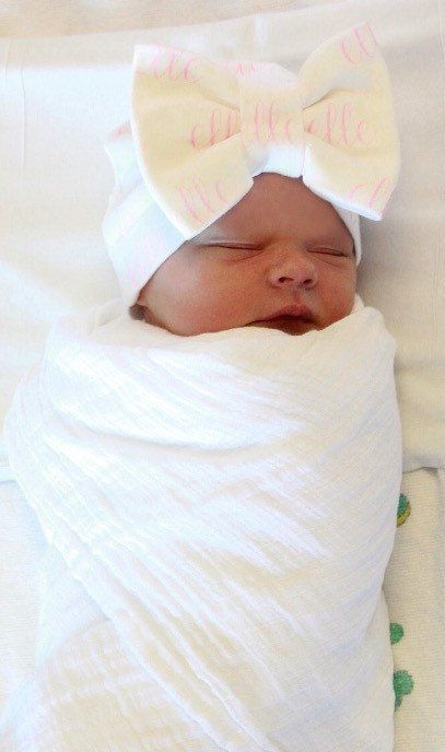 Personalized Newborn Knot Hat Baby Hat by sassybabyessentials