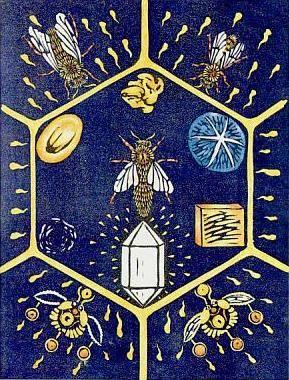6 of stones, greenwood tarot / Sacred Geometry <3