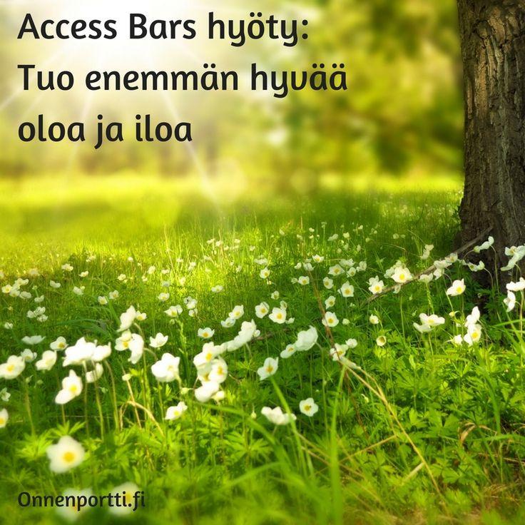 Access Bars hyöty: Tuo enemmän hyvää oloa ja iloa #accessbars #getyourbarsrun #hyöty #hyväolo #ilo