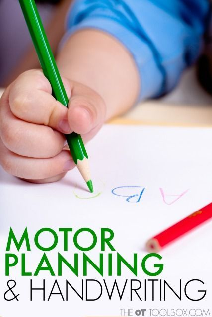 Motor planning and handwriting letters, handwriting tips for parents, teachers, and therapists. Motor planning and processing speed have a big impact on legibility of written work. This is great for the school, classroom, or school based OT.