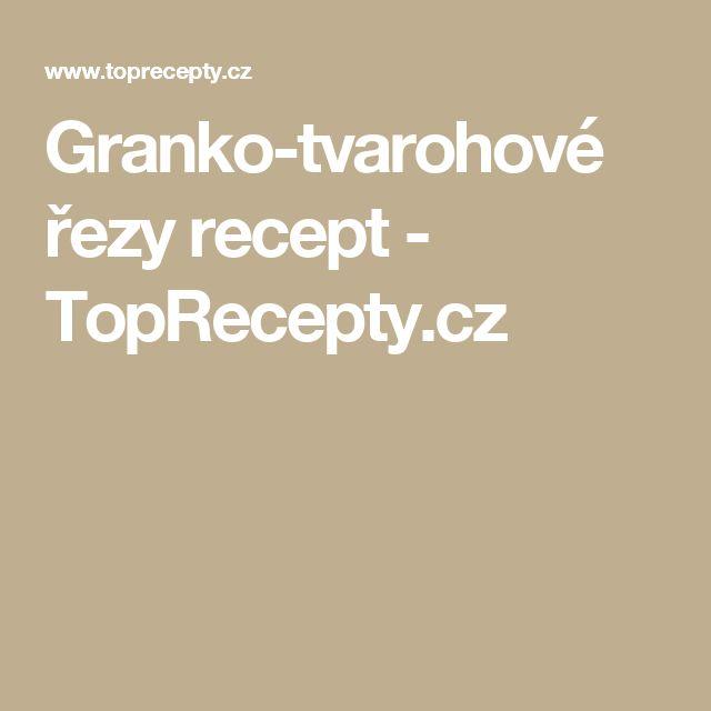 Granko-tvarohové řezy recept - TopRecepty.cz