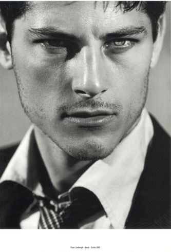 Atesh Salih. Turkish model for Georgio Armani  Strong jaw lines do it for me.