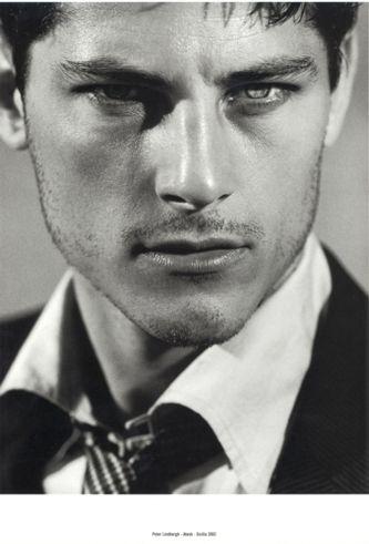 Atesh Salih. Turkish model for Georgio Armani  Strong jaw lines do it for me.