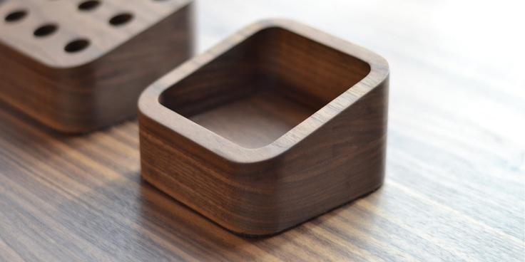 Small Storage Tray shown in Danish oiled walnut