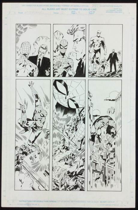 Keith Giffen - Marvel Comics - Webspinners : Tales of Spider-man # 5 Original Plate-Page 4 (1999) - W.B.