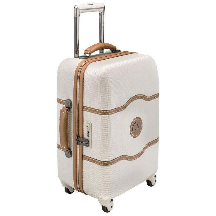 Chatelet By Delsey 55cm Hardside Cabin 4 Wheel Suitcase Angora White - Hot Luggage Deals