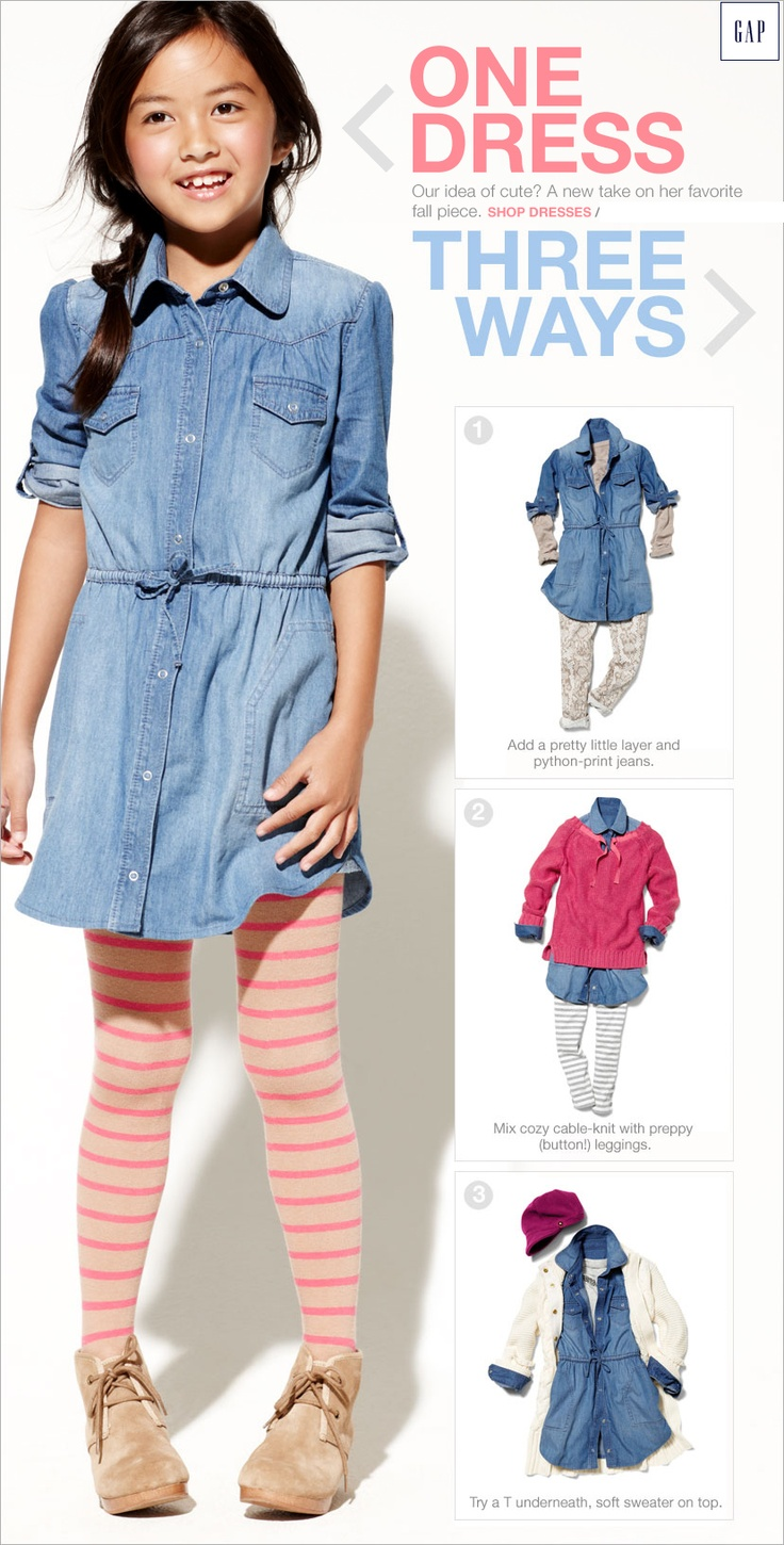 PJ for Gap Kids www.Gap.com LOVE the dress, tights and shoes! Whole outfit was awesome!