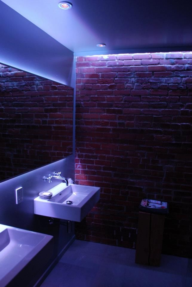 Bathroom with new led lights bathroom salles de bain for Bathroom strip light