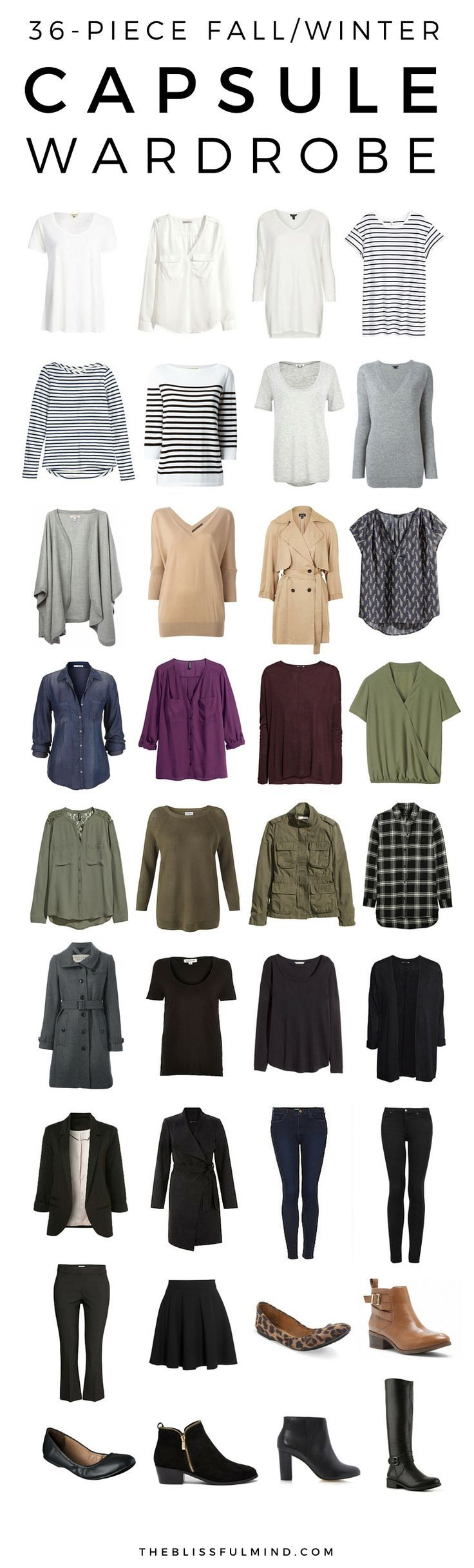 Looking to build capsule wardrobe. Basic pieces like these. Love.