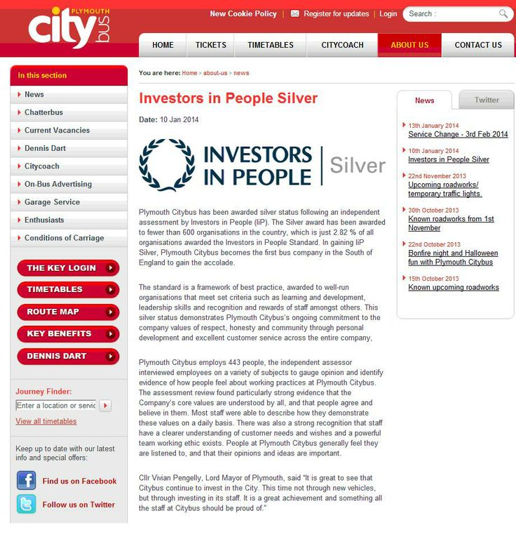 Plymouth Citybus awarded IIP Silver status