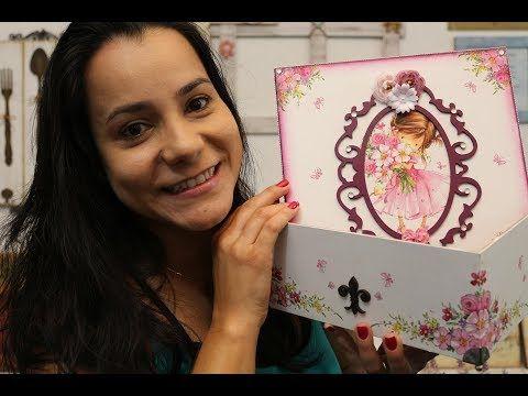 Como fazer Decoupage com Guardanapo | By Lívia Fiorelli - YouTube